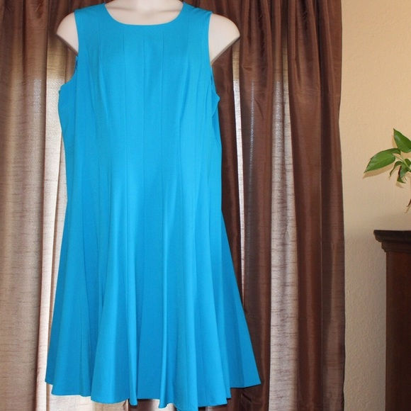 6b9ee7c185 Calvin Klein Dresses   Blue Plus Size Pleated Aline Dress   Poshmark